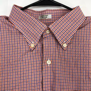 Peter Millar Mens XL Button Up Shirt Short Sleeve